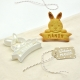 Emporte-pièce pour sablés personnalisés en forme de lapin avec prénom et date anniversaire