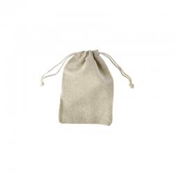 Pochon en lin écru format 10 x 15 cm à personnaliser